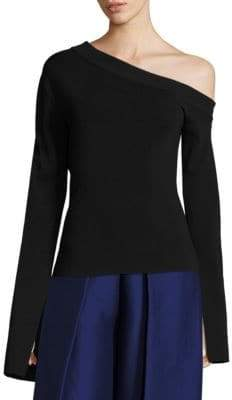 SOLACE London Kelsey Knit One Shoulder Top