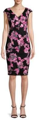 Jax Floral Embroidered Sheath Dress