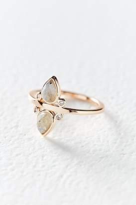 Elizabeth Stone Double Stone Teardrop Ring