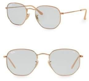 Ray-Ban 54MM Polarized Metal Square Sunglasses