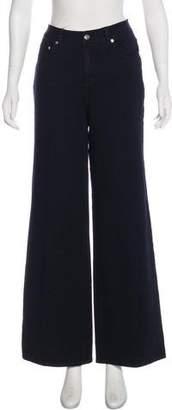Isaac Mizrahi Mid-Rise Wide-Leg Jeans