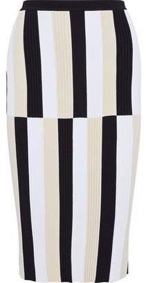 Derek Lam Color-Block Knitted Skirt