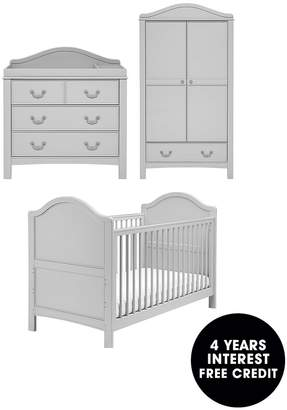 East Coast Nursery East Coast Toulouse Cot Bed, Dresser And Wardrobe