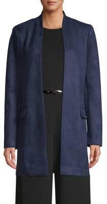 Calvin Klein Open-Front Faux Suede Blazer