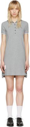 Thom Browne Grey A-Line Polo Dress $590 thestylecure.com