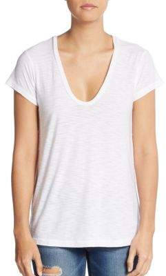 V-Neck Cotton & Modal Tee $85 thestylecure.com
