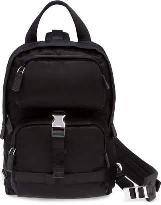 Prada single strap backpack