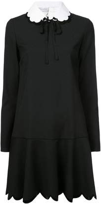RED Valentino scallop hem shirt dress