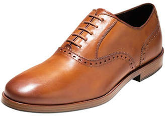 Cole Haan Hamilton Grand Plain-Toe Oxford, British Tan