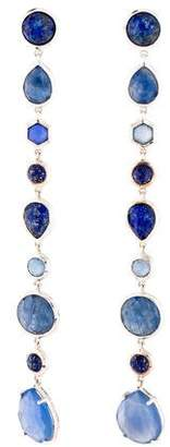 Ippolita Sapphire, Lapis Doublet & Dyed Chalcedony Linear Drop Earrings