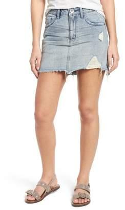 One Teaspoon Distressed Denim Miniskirt