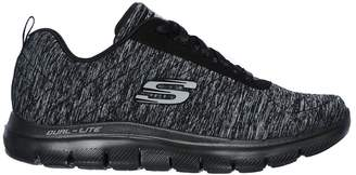 4075bf2155e2d7 ONLINE ONLY - Wide Width Lace-Up Flex Appeal 2.0 Shoe - Skechers