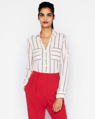 Express Petite Original Fit Striped Portofino Shirt