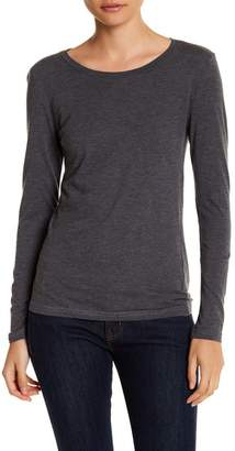 Susina Long Sleeve Cotton Layering Tee (Petite)