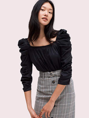 Kate Spade Poplin square-neck blouse