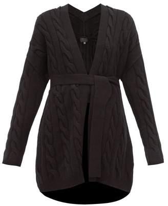 Nili Lotan Serene Cable Knit Cashmere Cardigan - Womens - Black