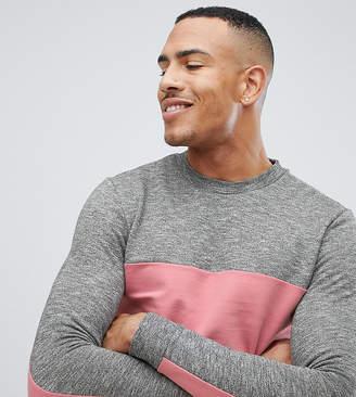 Asos DESIGN tall sweatshirt with color blocking