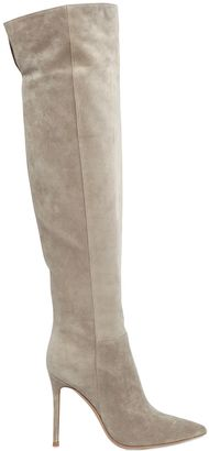 100mm Suede Knee High Boots $1,795 thestylecure.com