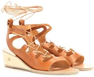 Ancient Greek Sandals Antigone leather wedge sandals