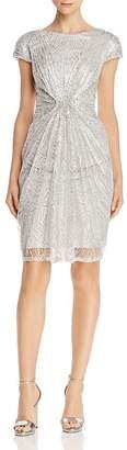 Tadashi Shoji Tadashi Petites Petites Ruched Sequined Dress