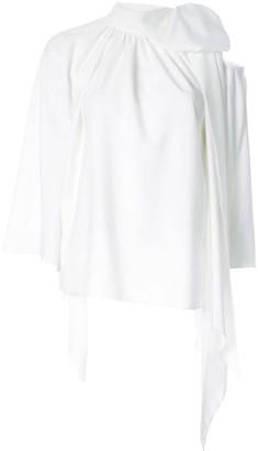 Ingie Paris cut-out shoulder blouse