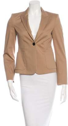 Miu Miu Long Sleeve Single Button Blazer