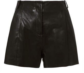 Veda Black Leather Shorts