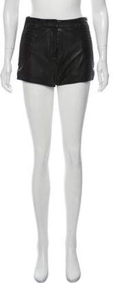 Pierre Balmain High-Rise Leather Shorts w/ Tags
