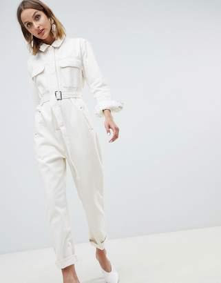 dc34856735f0 Asos White ASOS WHITE utility jumpsuit in denim