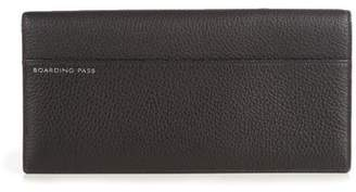 Smythson Burlington Grained Leather Travel Wallet - Mens - Black