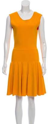Issa Flared Knit Dress Orange Flared Knit Dress