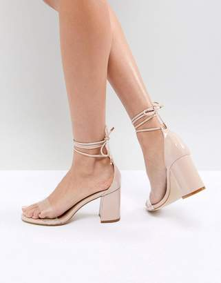clear Raid RAID Corra Detail Block Heeled Sandals