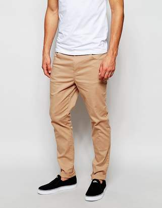 Asos Skinny Pants In Soft Tan