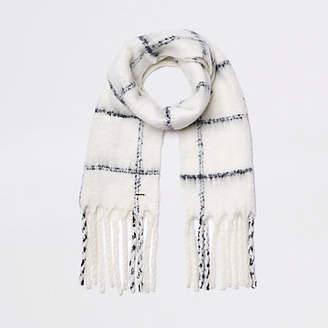 River Island Cream check scarf