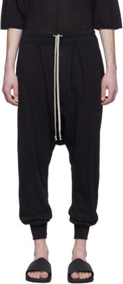 Rick Owens Black Prisoner Drawstring Lounge Pants