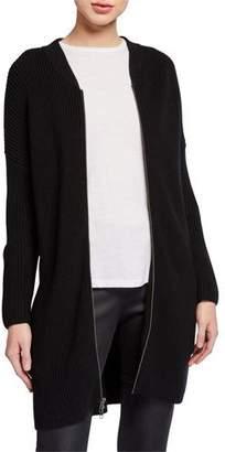 Eileen Fisher Merino Wool Zip-Front Long Cardigan