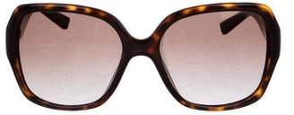 Christian Dior Leather-Trimmed Gradient Sunglasses