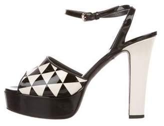 Valentino Patent Leather Platform Sandals