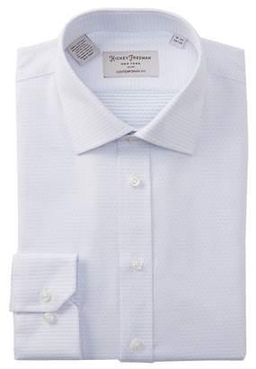 Hickey Freeman Dot Print Contemporary Fit Dress Shirt