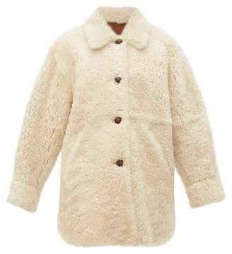 Isabel Marant Sarvey Shearling Jacket - Womens - Ivory