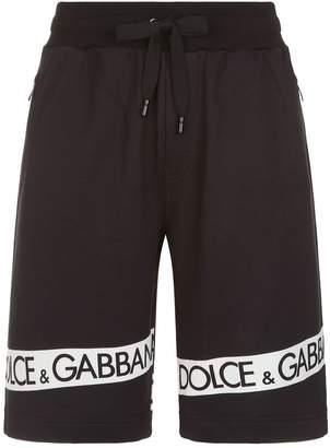 Dolce & Gabbana Logo Stripe Sweat Shorts