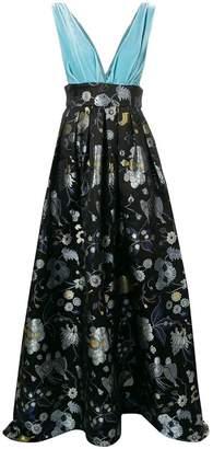 Christian Pellizzari floral print gown
