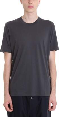 Jil Sander Grey Cotton T-shirt