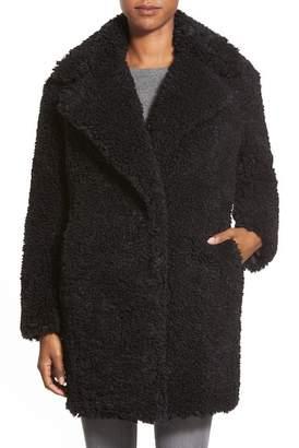 Kensie 'Teddy Bear' Notch Collar Reversible Faux Fur Coat