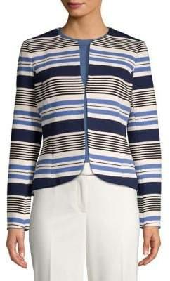 Anne Klein Striped Tulip Jacket