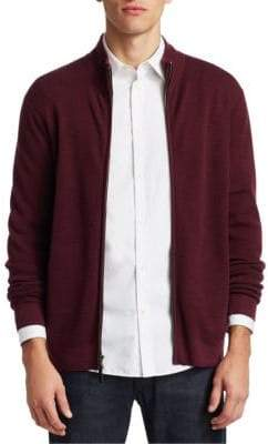 Saks Fifth Avenue COLLECTION Wool Zip-Up Sweater