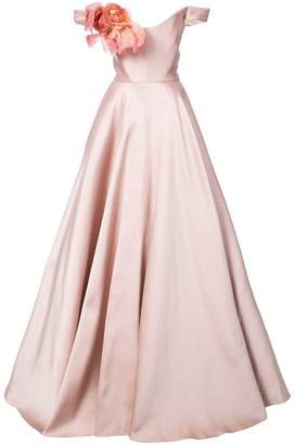 Marchesa off-the-shoulder gown