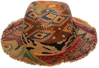 Etro Printed Hat W/ Fringe