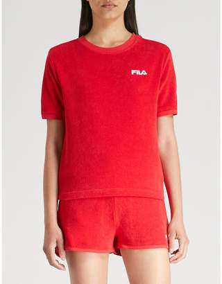 Fila Logo-embroidered towelling T-shirt