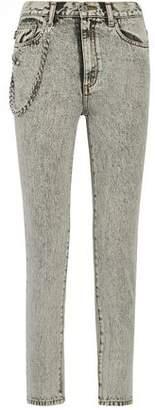 Marc Jacobs Embellished Appliquéd High-Rise Skinny Jeans